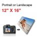 Canvas Print Landscape/Portrait  12x16