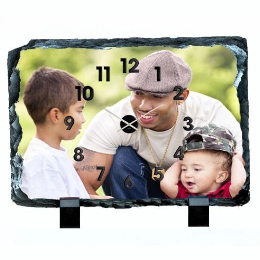 Photo Slate clock Rectangle
