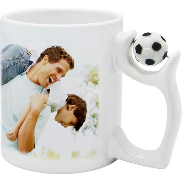 Personalised Football Handle Mug