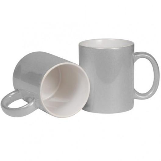 Sparkling Silver Pearl Mug