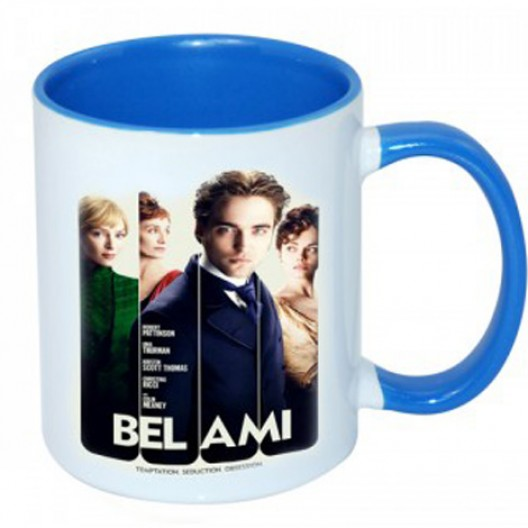 Personalised Blue rim & Handle Mug