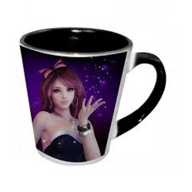 Personalised Black inner Latte Mug 12oz