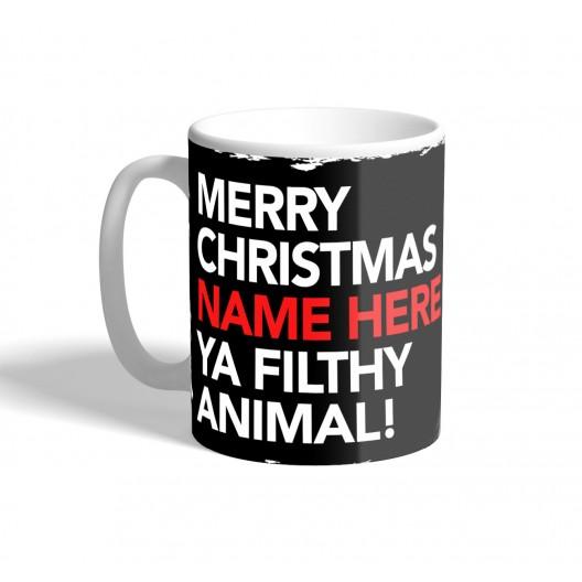 christmas ya filthy animal mug