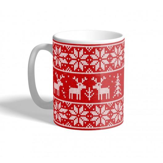 knitted jumper christmas mug
