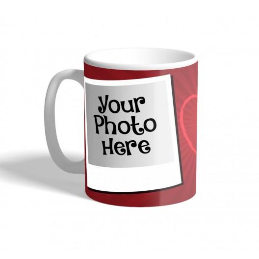 polaroid photo i love you mug