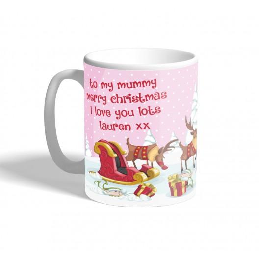 xmas family girl mug