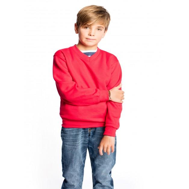 Childrens V Neck Sweatshirt